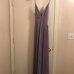 Lulu's Size L Purple Maxi Bridesmaid Dress
